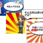 アコムの借金は損!借り換えると毎年1万7千円得ですよ!